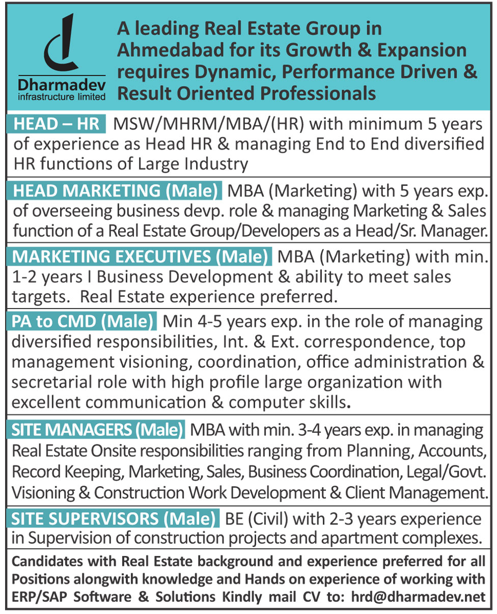 Dharmadev Ad For Employee